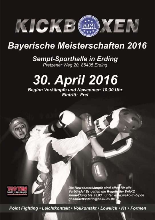 Bayrische Meisterschaften 2016 in Erding